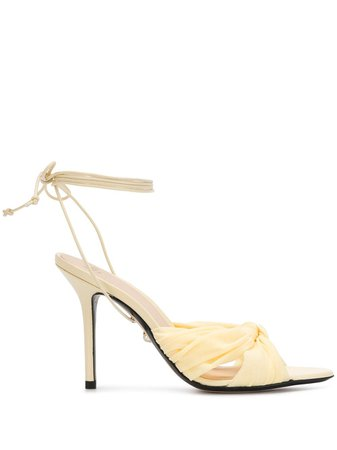 Alevì ankle tie heeled sandals yellow L20SN001Q0116208 - Farfetch