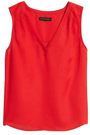 Cotton-Silk Sleeveless Top