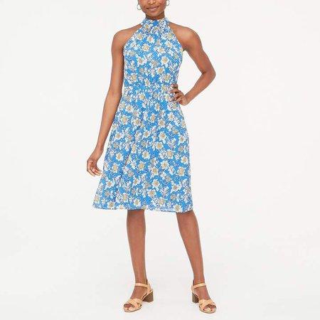 Tie-back halter dress