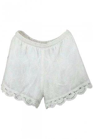 elastic-waist-crochet-cutout-hem-plain-shorts_1527038472137.jpg (392×588)