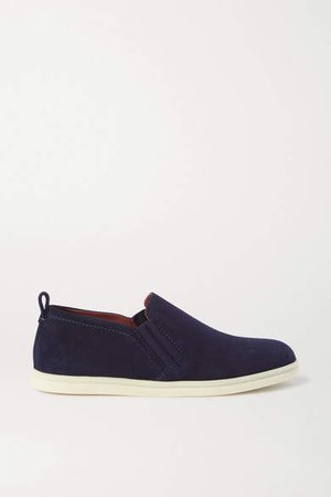 Cocoon Walk Suede Loafers - Navy