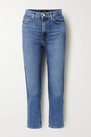Jules High-rise Straight-leg Jeans - Blue