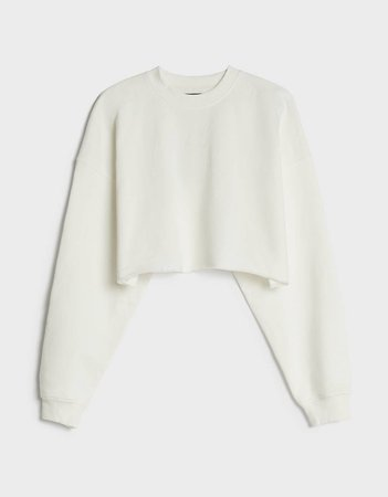 Cropped sweatshirt - Woman | Bershka