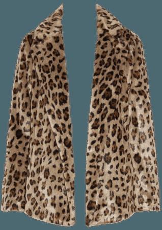 Theory leopard fur coat png