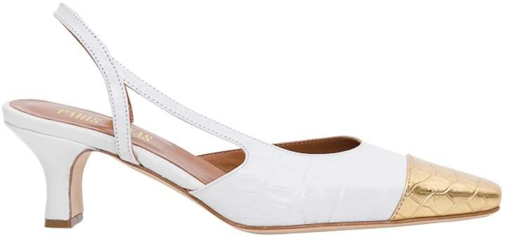 Slingback Pumps With Contrasting Toe