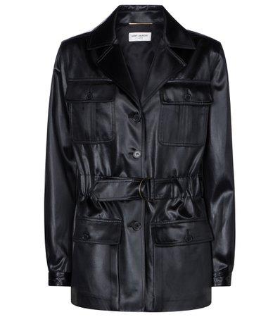 Saint Laurent - Faux leather jacket | Mytheresa