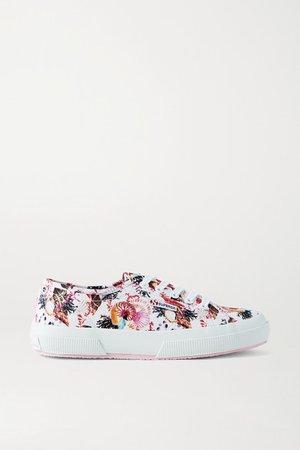 Superga Printed Canvas Sneakers - White
