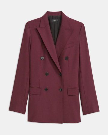 Good Wool Double-Breasted Blazer | Theory