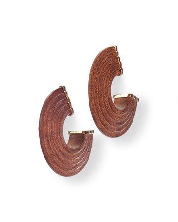 Cult Gaia Nava C-Hoop Wood Earrings