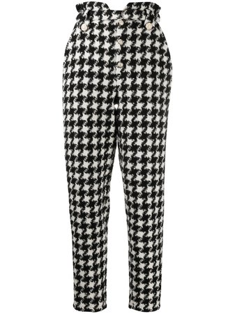 Amen hounds-tooth print trousers