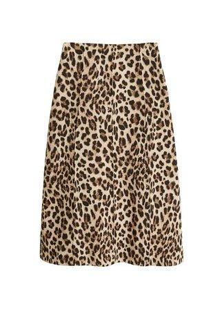 MANGO Leopard midi skirt