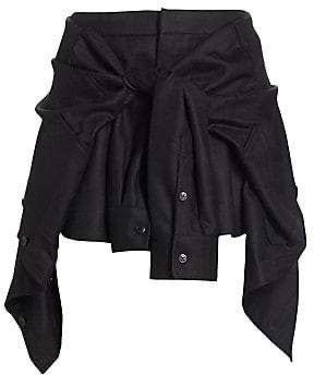 Alexander Wang Wool Faux Tie-Front Shorts