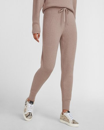 High Waisted Cozy Ribbed Jogger Pant