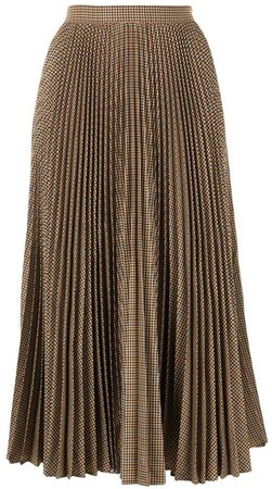 houndstooth check pleated skirt