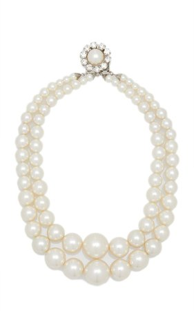 Large Layered Pearl Necklace By Alessandra Rich | Moda Operandi