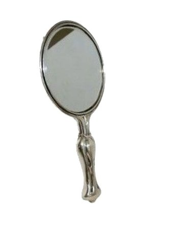 Silver hand held mirror