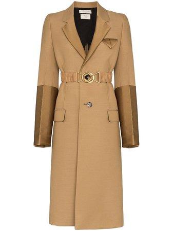 Bottega Veneta Contrast Panel Single-Breasted Coat Aw19 | Farfetch.com
