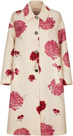 La DoubleJ Printed Wool-Blend Coat