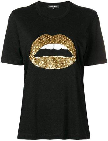 sequin lips T-shirt