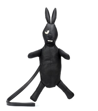 Monster Rabbit leather clutch