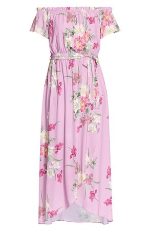 City Chic Pink Floral Maxi Dress (Plus Size) | Nordstrom