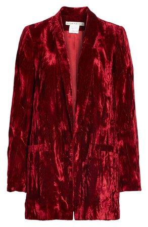 Alice + Olivia Kylie Crushed Velvet Shawl Collar Blazer | Nordstrom
