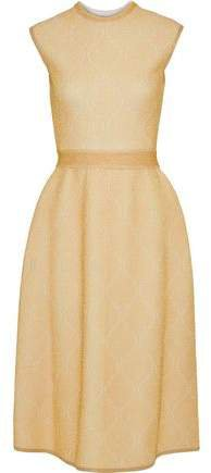 Metallic Ribbed Ponte Dress
