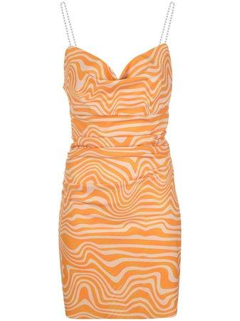 Orange Maisie Wilen Graphic-Print Dress For Women | Farfetch.com