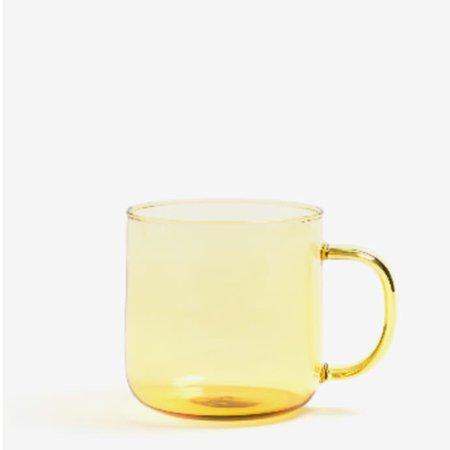 Trouva: Yellow Borosilicate Glass Mug