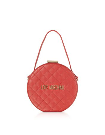 Love Moschino Quilted Eco-leather Round Bag
