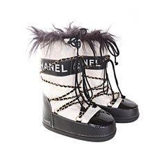 Vintage Chanel Ski boots
