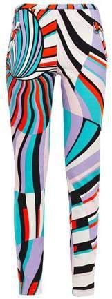 Printed Stretch-jersey Skinny Pants