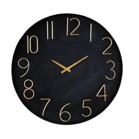 MAISONS DU MONDE Black and Gold Metal Clock