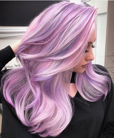 Lilac/Lavender & Pink Hair