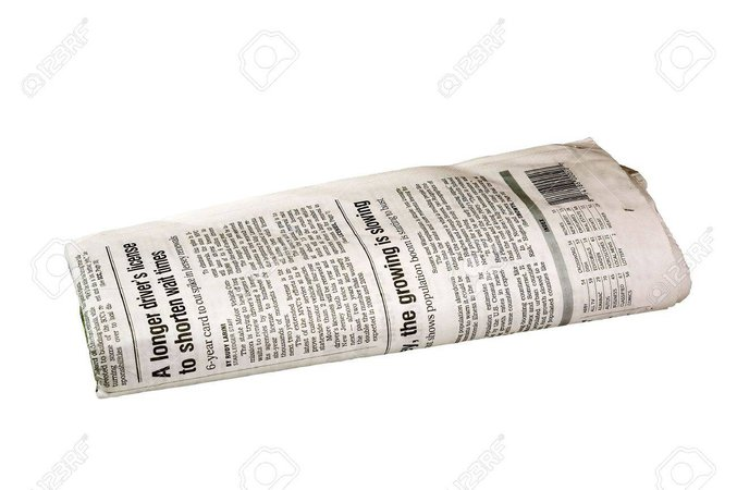 folded newspaper - Google Search