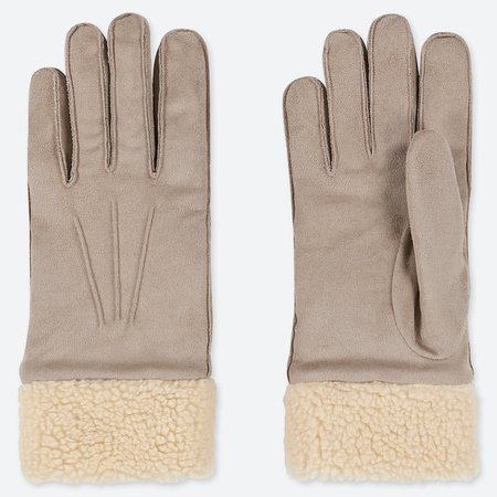 WOMEN HEATTECH FAUX SUEDE GLOVES | UNIQLO US