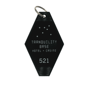 'TRANQUILITY BASE HOTEL + CASINO' KEY RING (BLACK) – ARCTIC MONKEYS