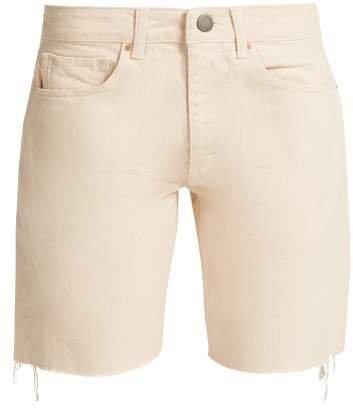 Cut Off Denim Shorts - Womens - Nude
