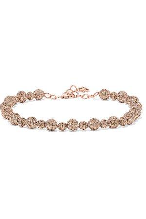 Ofira | Ball 18-karat rose gold diamond bracelet | NET-A-PORTER.COM