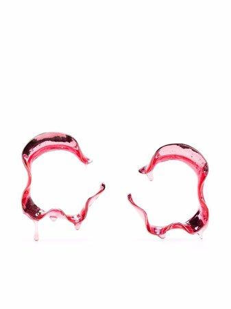 Hugo Kreit Swell hoop earrings - FARFETCH