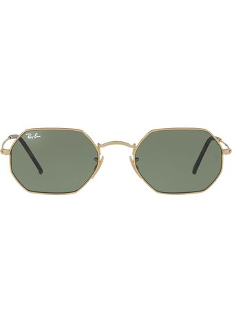 Ray-Ban octagonal-frame Sunglasses - Farfetch