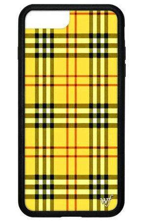Yellow checkered phone case