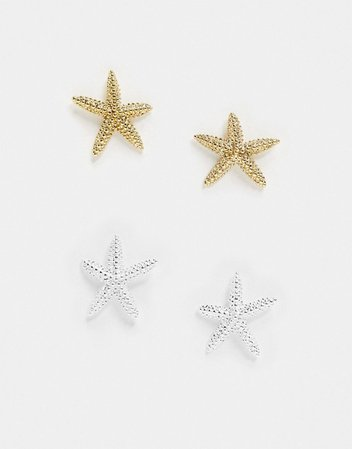 & Other Stories starfish stud earrings in gold   ASOS