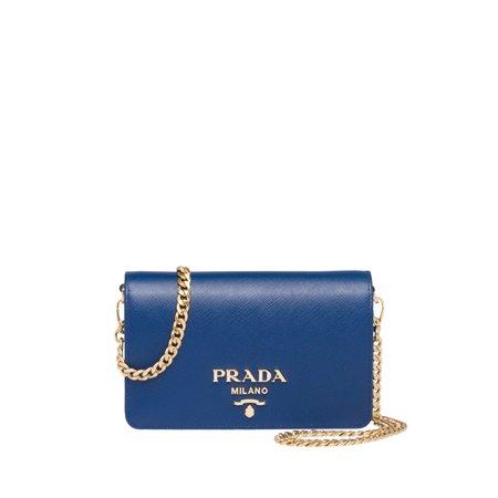 Saffiano leather shoulder bag | Prada - 1BP006_NZV_F0016_V_COW