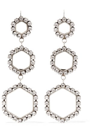 Isabel Marant | Silver-tone crystal earrings | NET-A-PORTER.COM