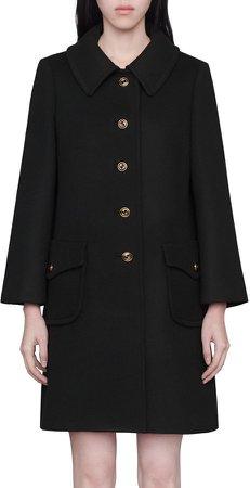 Martingale Belt Wool Coat