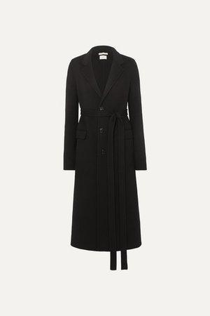 Belted Wool Coat - Black