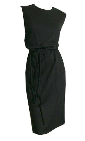 Sleeveless Black Textured Acrylic Dress circa 1960s – Dorothea's Closet Vintage