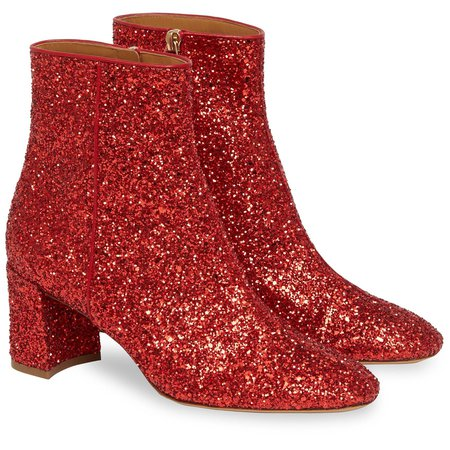 Red Glitter Boots from Mansur Gavriel
