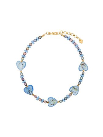 Shop blue & gold Brinker & Eliza Forever Young necklace with Express Delivery - Farfetch